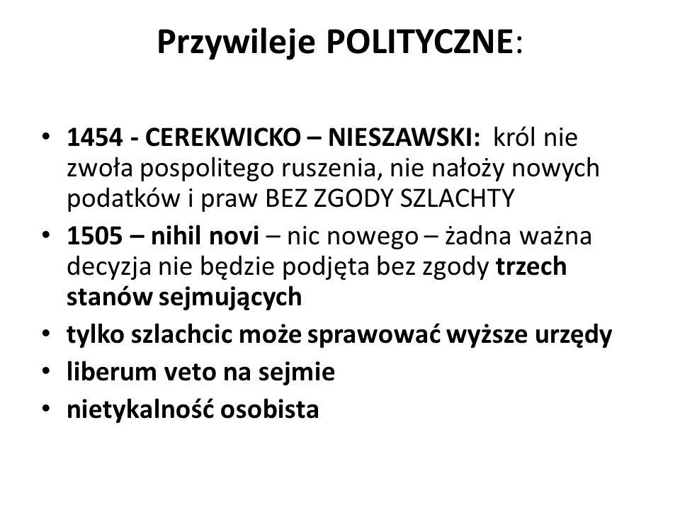 Przywileje POLITYCZNE:
