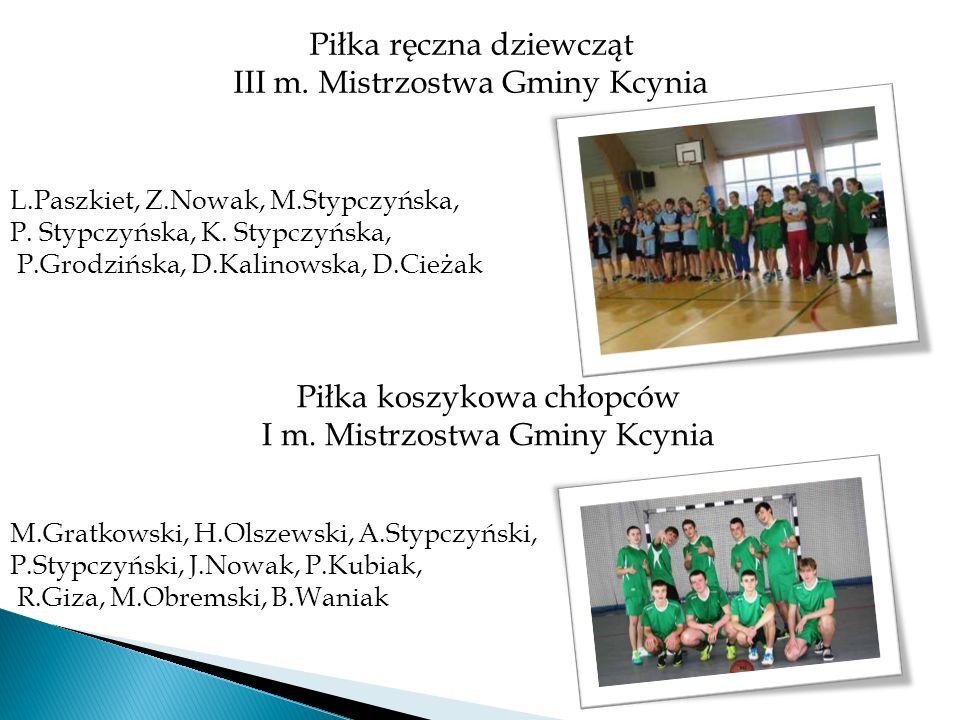 Piłka ręczna dziewcząt III m. Mistrzostwa Gminy Kcynia