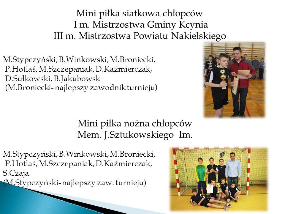 Mini piłka siatkowa chłopców I m. Mistrzostwa Gminy Kcynia