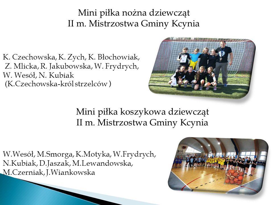 Mini piłka nożna dziewcząt II m. Mistrzostwa Gminy Kcynia