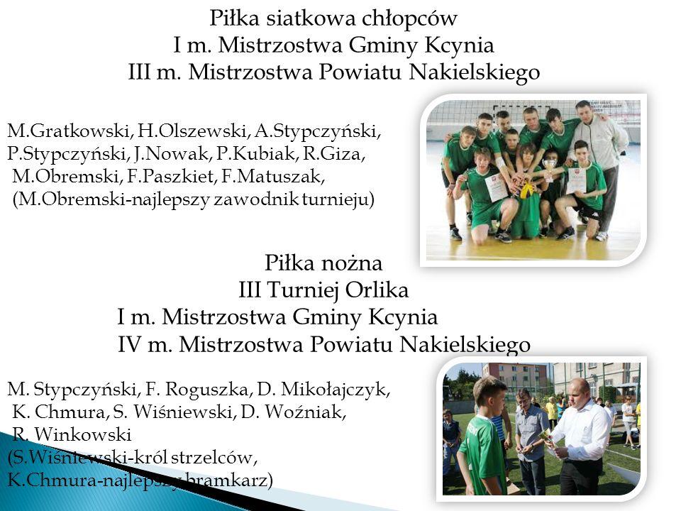 Piłka siatkowa chłopców I m. Mistrzostwa Gminy Kcynia