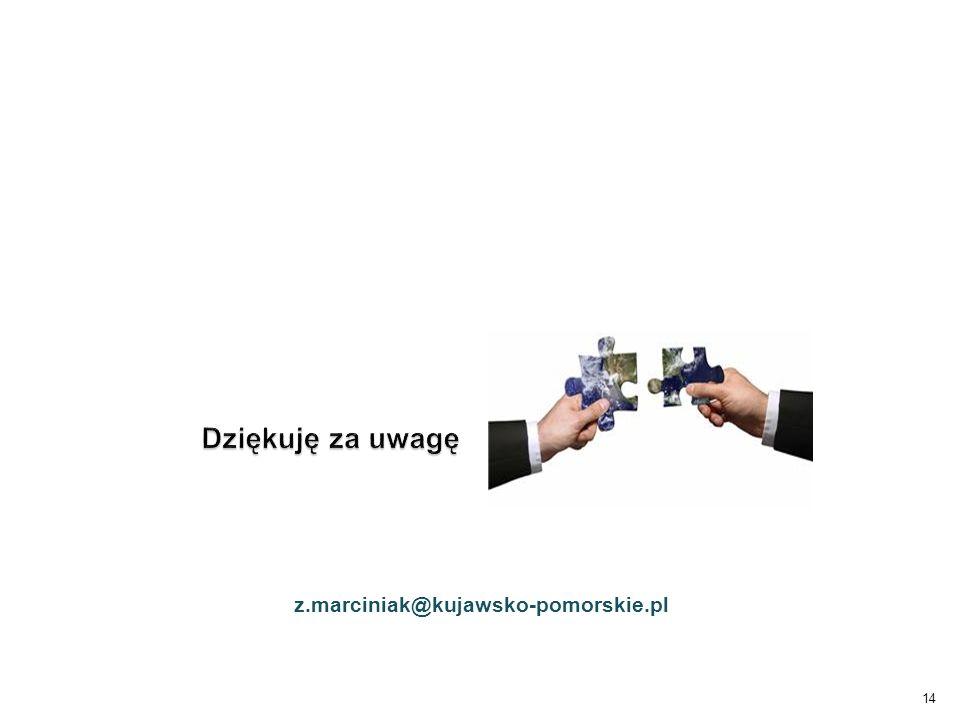 Dziękuję za uwagę z.marciniak@kujawsko-pomorskie.pl