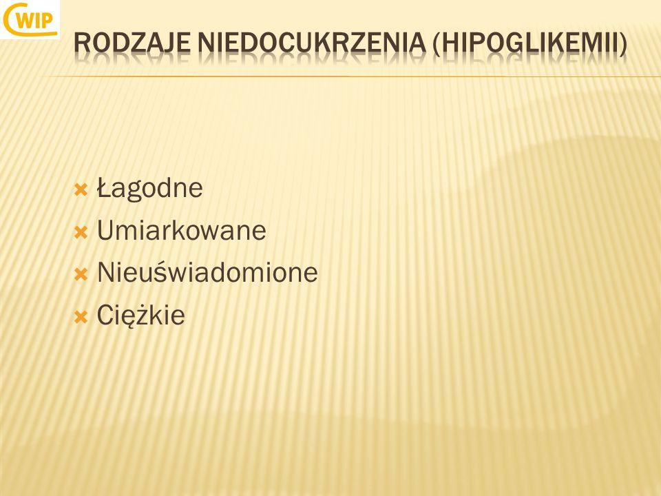 Rodzaje niedocukrzenia (hipoglikemii)