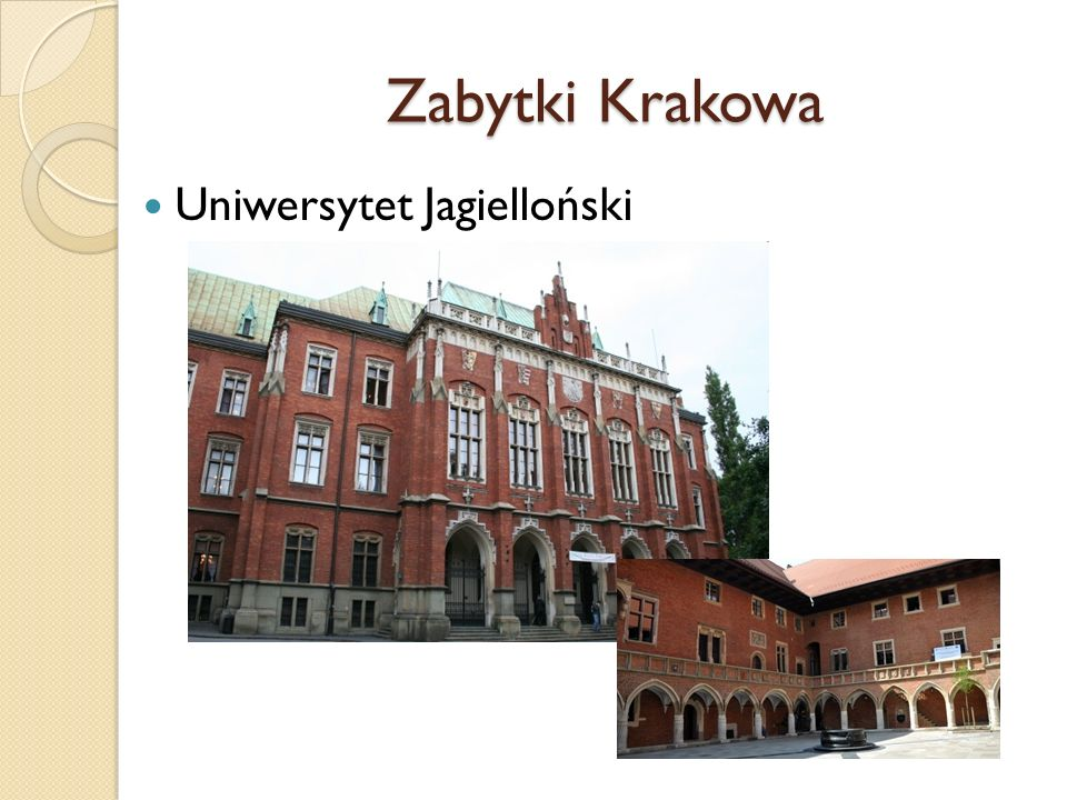 Zabytki Krakowa Uniwersytet Jagielloński