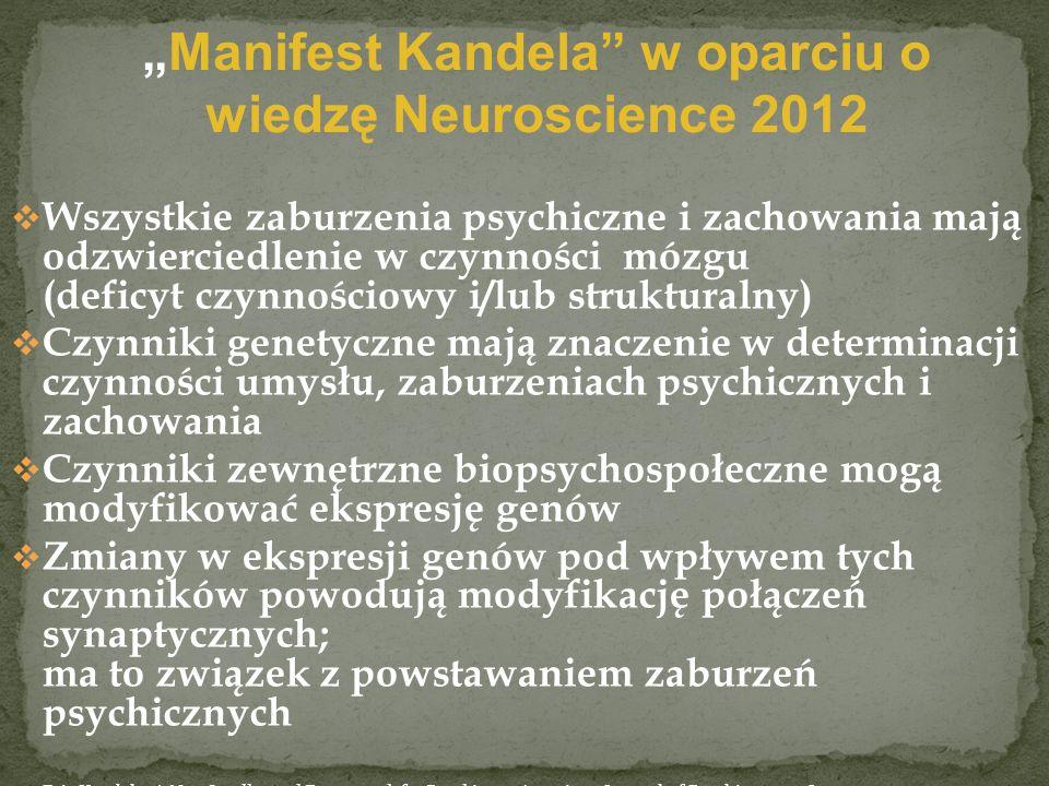 """""""Manifest Kandela w oparciu o wiedzę Neuroscience 2012"""