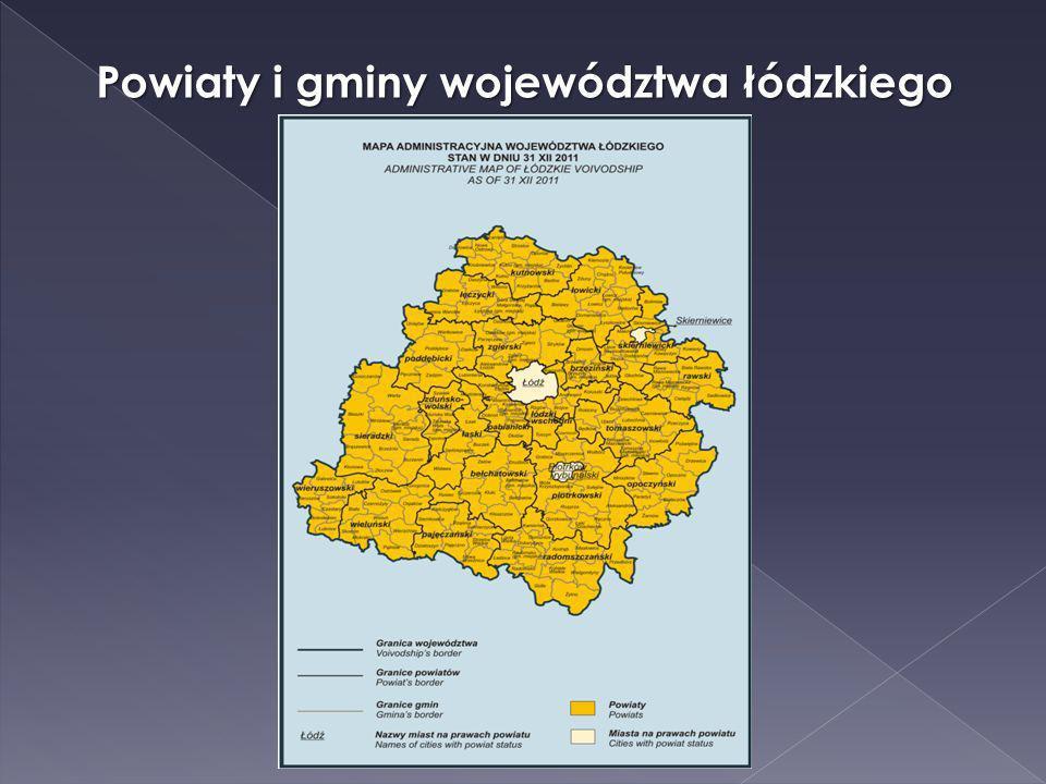 Powiaty i gminy województwa łódzkiego