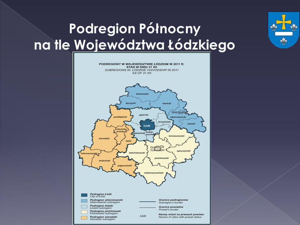 na tle Województwa Łódzkiego