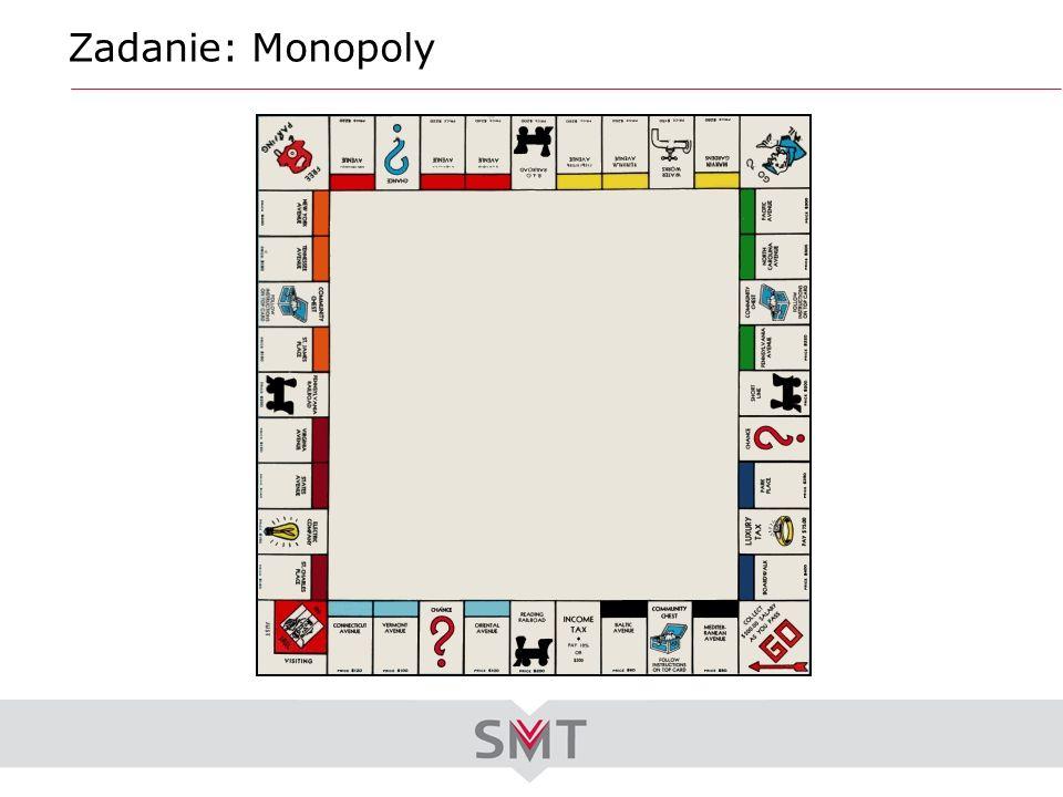 Zadanie: Monopoly