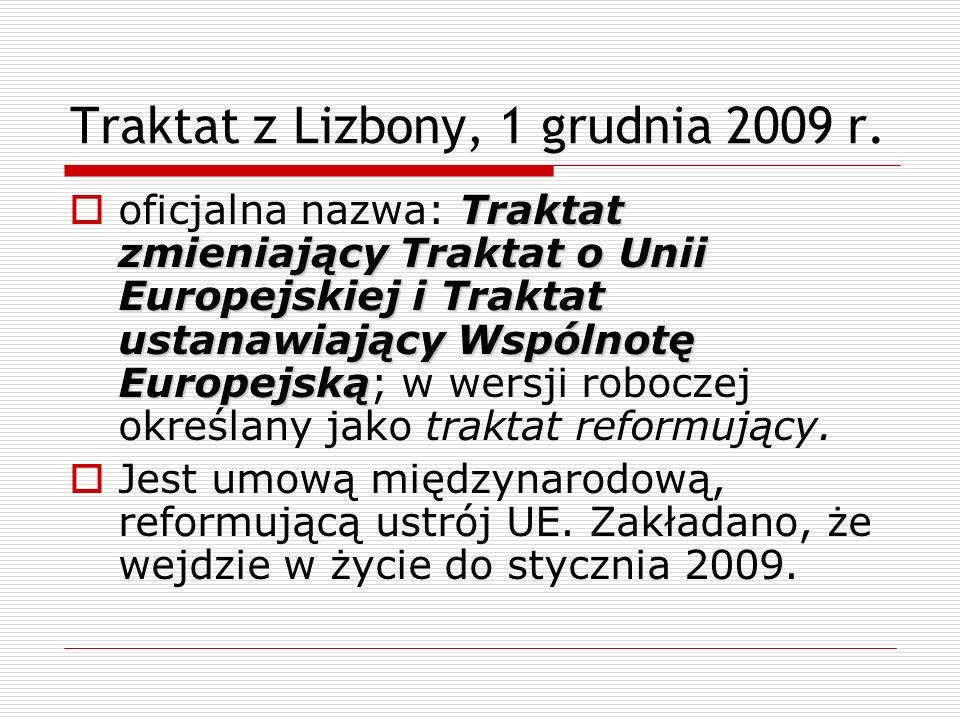 Traktat z Lizbony, 1 grudnia 2009 r.