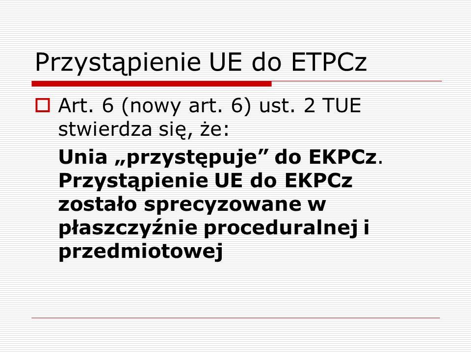 Przystąpienie UE do ETPCz