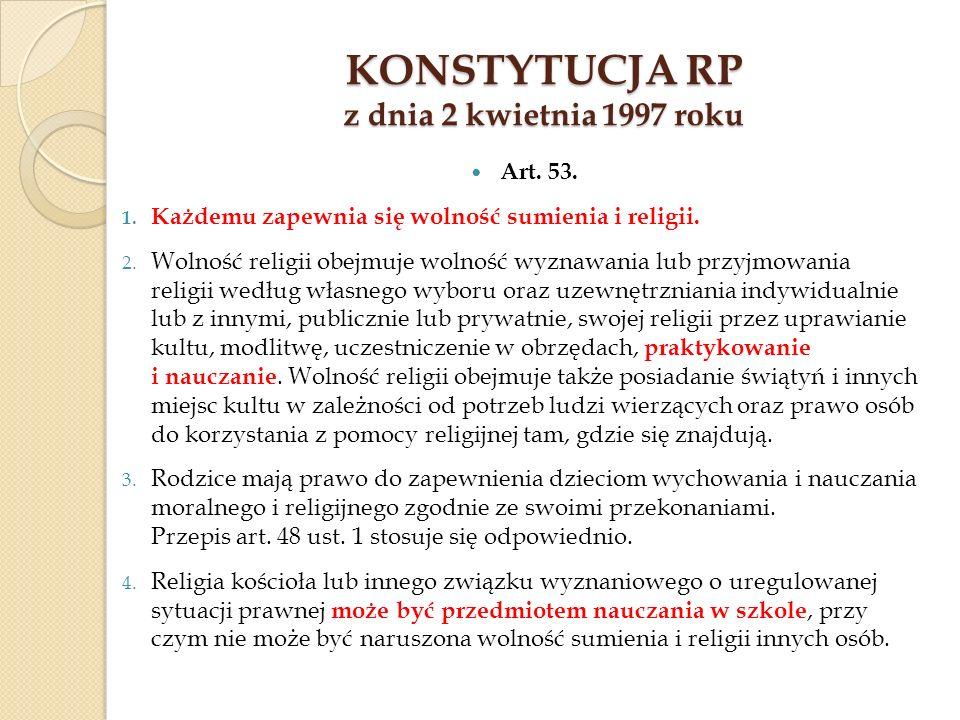 Konstytucja RP z dnia 2 kwietnia 1997 roku