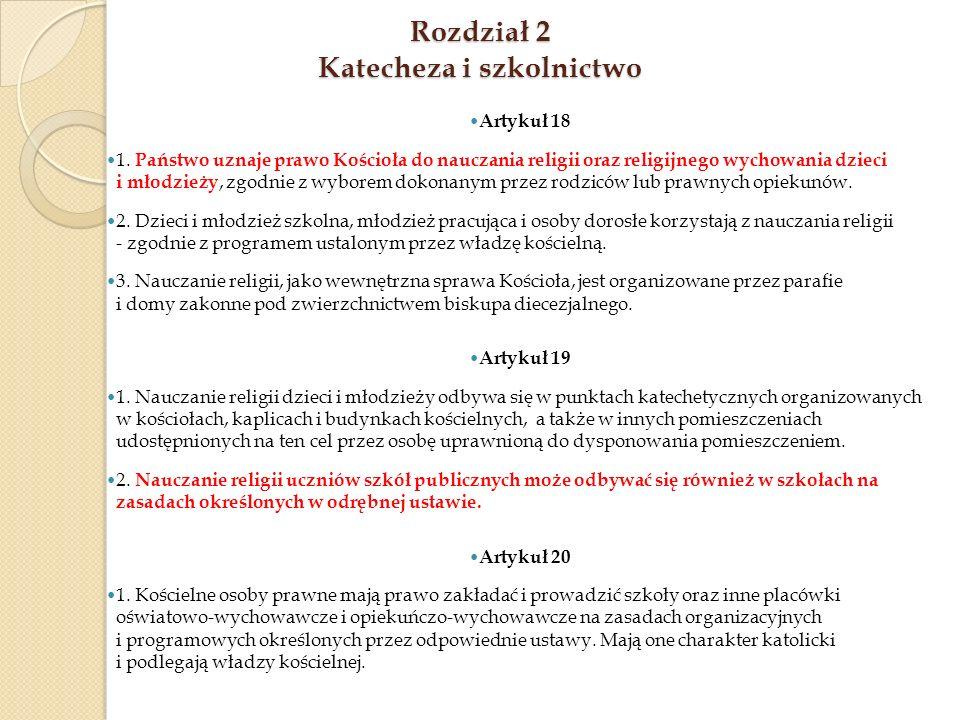 Rozdział 2 Katecheza i szkolnictwo