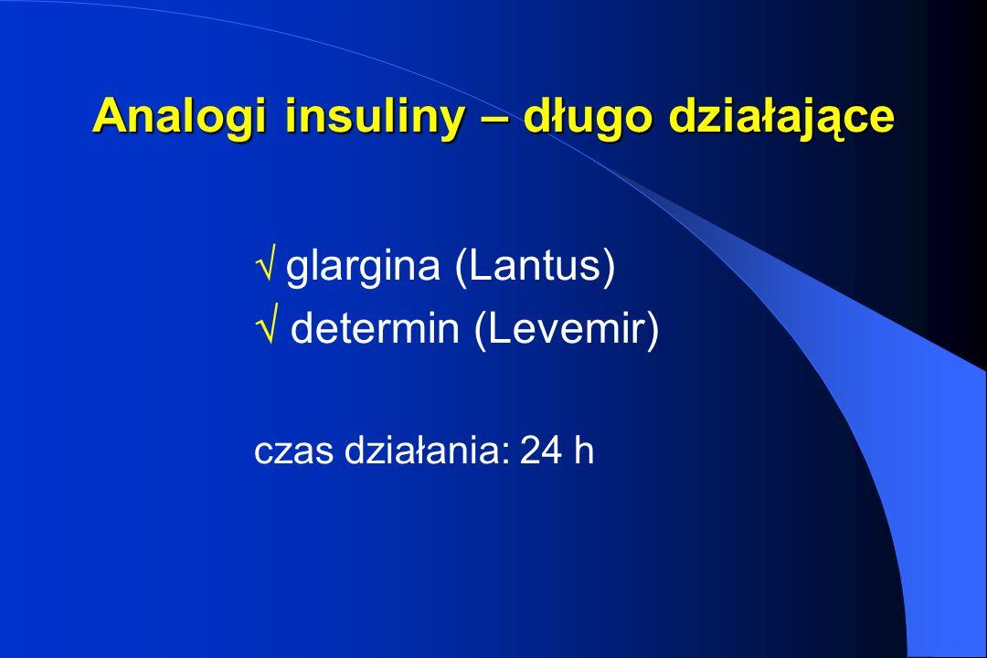 Analogi insuliny – długo działające