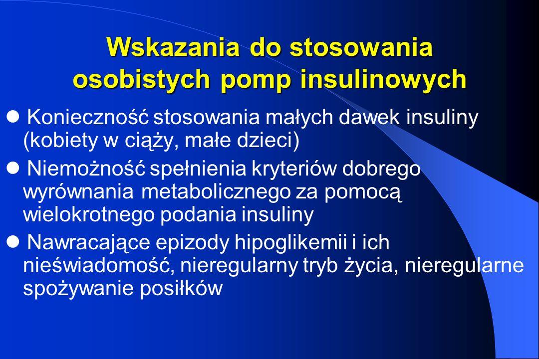 Wskazania do stosowania osobistych pomp insulinowych