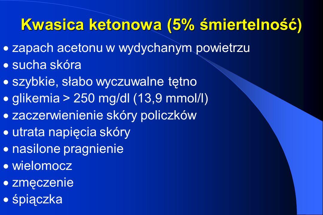 Kwasica ketonowa (5% śmiertelność)