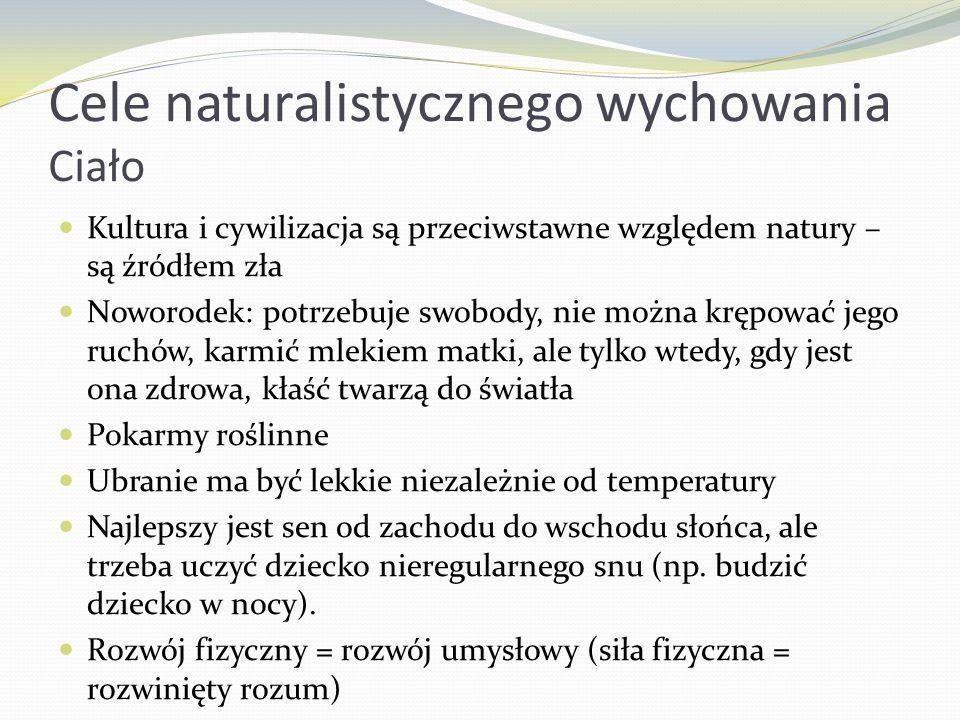 Cele naturalistycznego wychowania Ciało