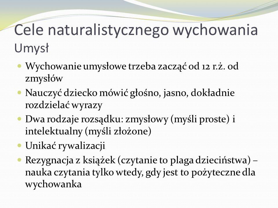 Cele naturalistycznego wychowania Umysł