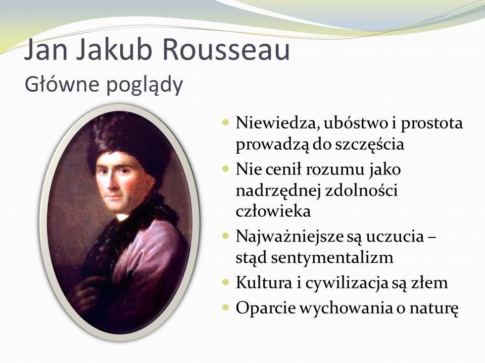 Jan Jakub Rousseau Główne poglądy
