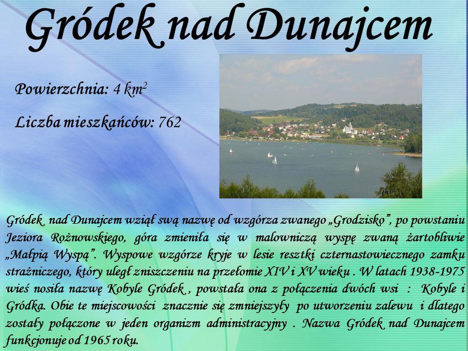 Gródek nad Dunajcem Powierzchnia: 4 km2 Liczba mieszkańców: 762