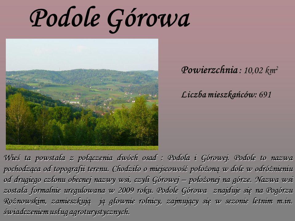 Podole Górowa Powierzchnia : 10,02 km2 Liczba mieszkańców: 691