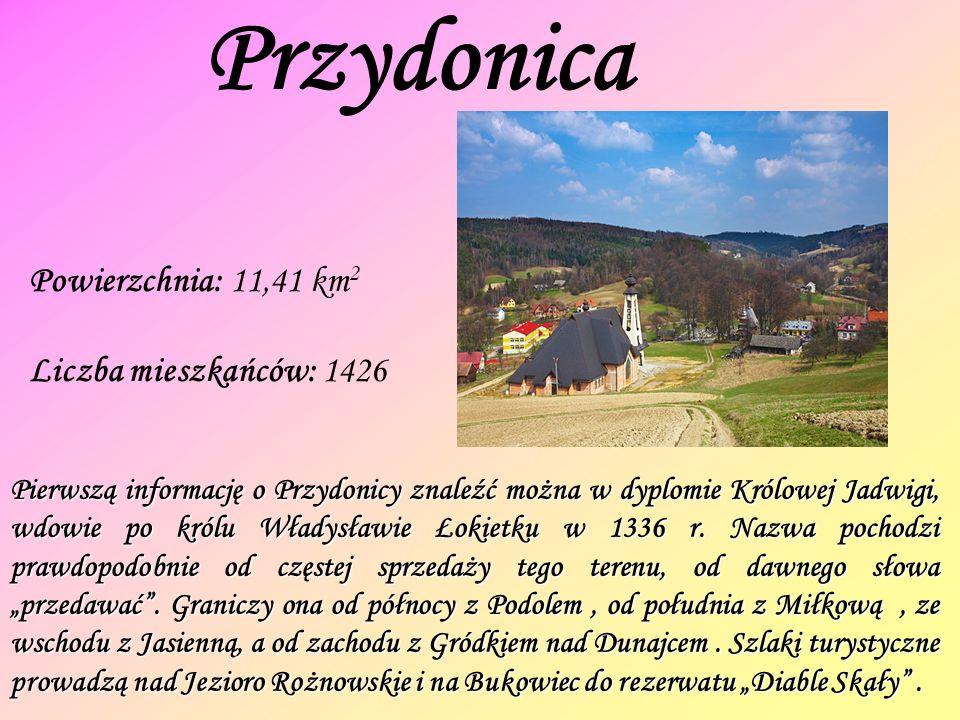 Przydonica Powierzchnia: 11,41 km2 Liczba mieszkańców: 1426