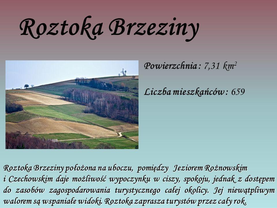 Roztoka Brzeziny Powierzchnia : 7,31 km2 Liczba mieszkańców : 659