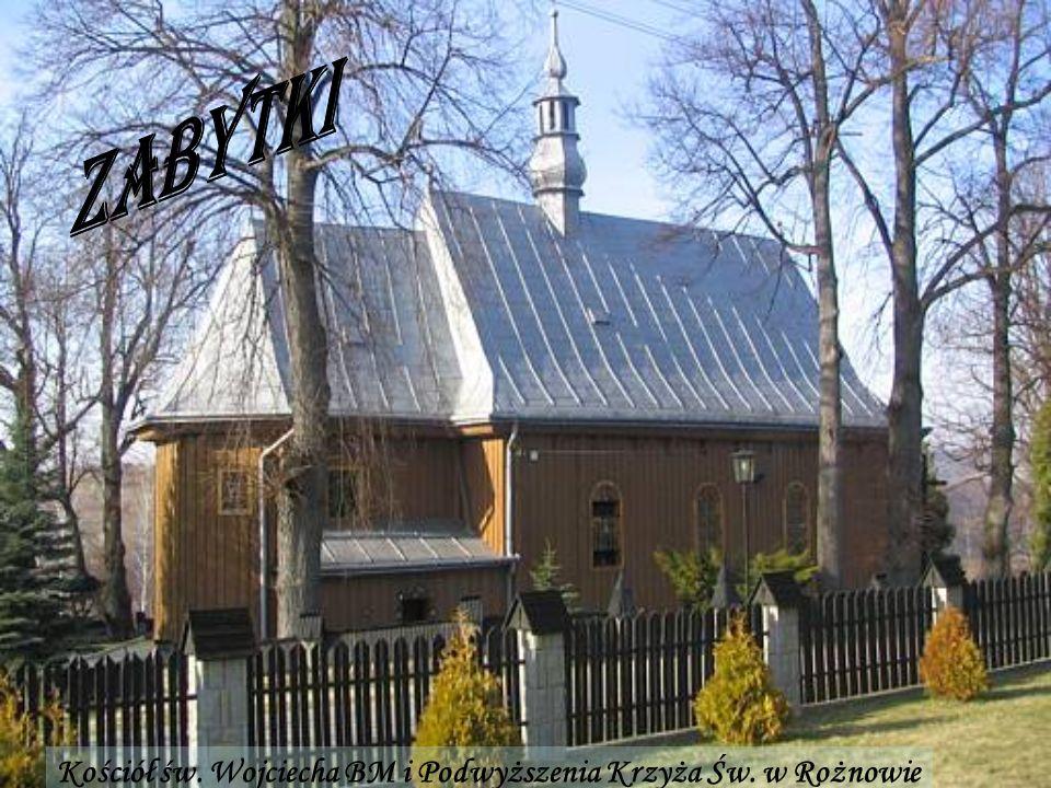 Zabytki Kościół św. Wojciecha BM i Podwyższenia Krzyża Św. w Rożnowie