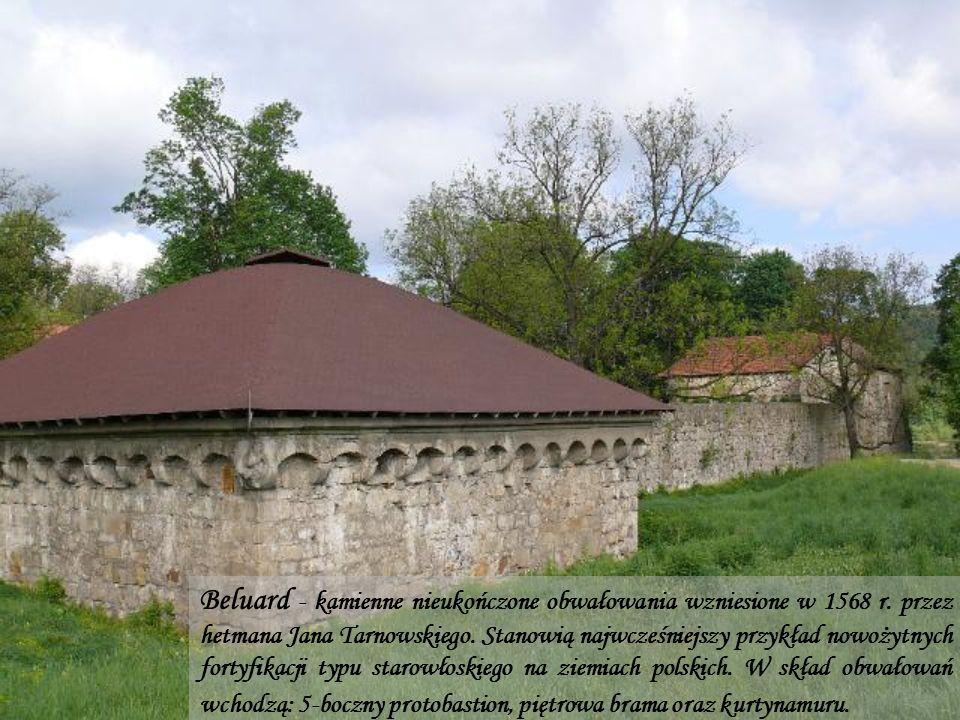 Beluard - kamienne nieukończone obwałowania wzniesione w 1568 r