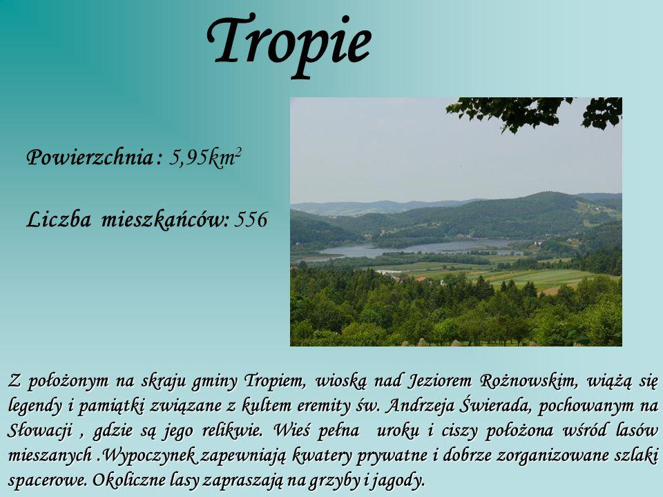 Tropie Powierzchnia : 5,95km2 Liczba mieszkańców: 556