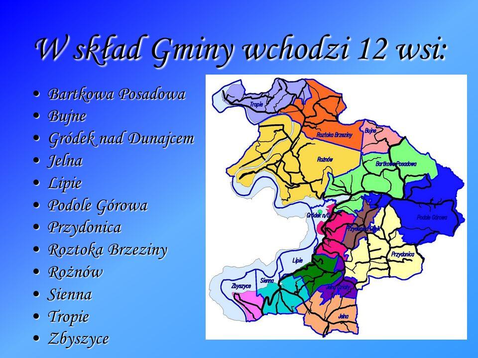 W skład Gminy wchodzi 12 wsi: