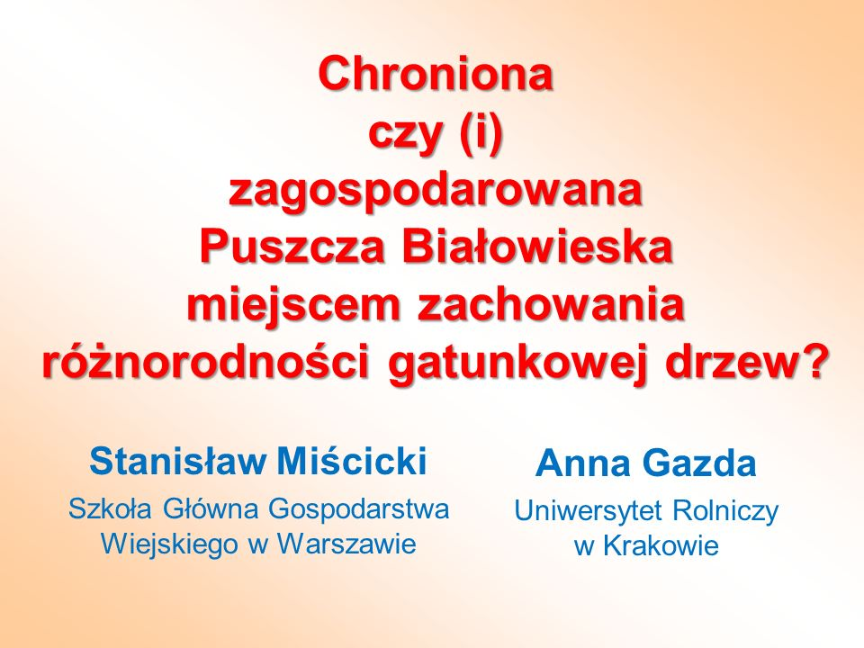Stanisław Miścicki Szkoła Główna Gospodarstwa Wiejskiego w Warszawie