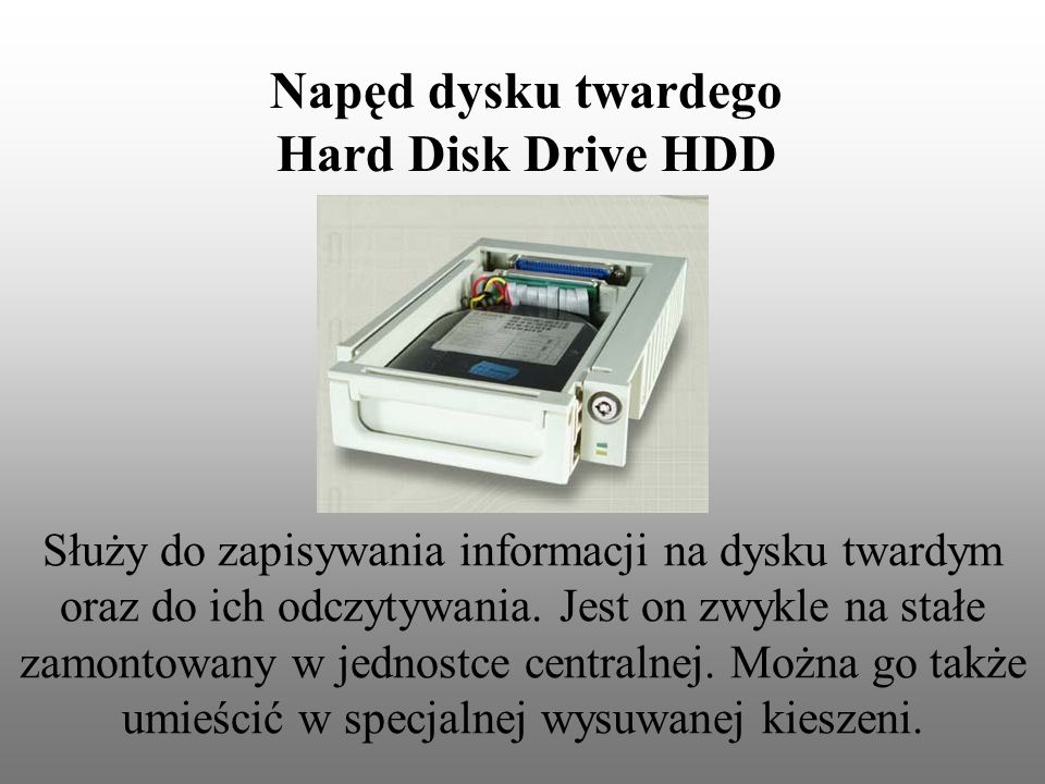 Napęd dysku twardego Hard Disk Drive HDD