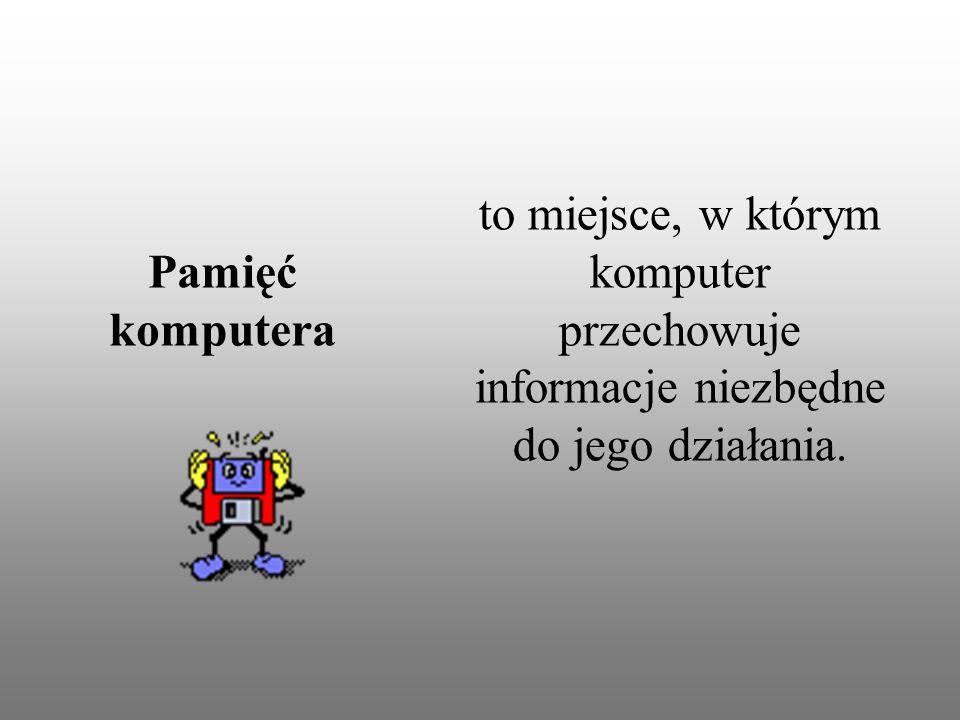 to miejsce, w którym komputer przechowuje informacje niezbędne