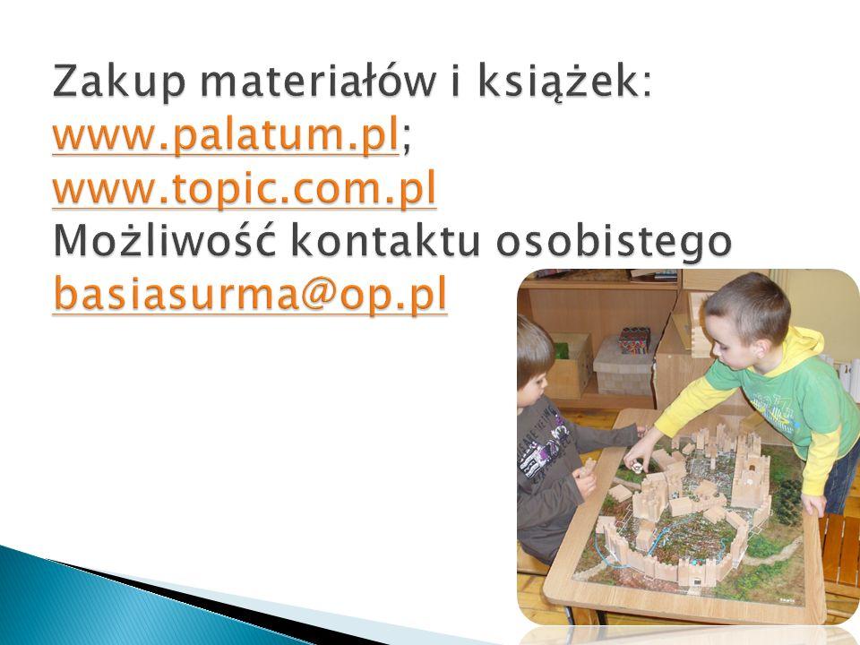 Zakup materiałów i książek: www. palatum. pl; www. topic. com