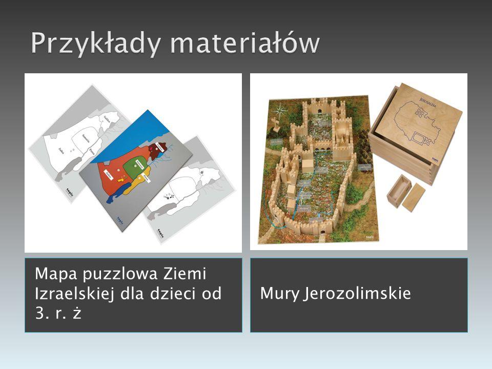 Przykłady materiałów Mapa puzzlowa Ziemi Izraelskiej dla dzieci od 3. r. ż Mury Jerozolimskie