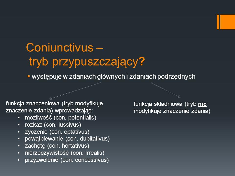 Coniunctivus – tryb przypuszczający