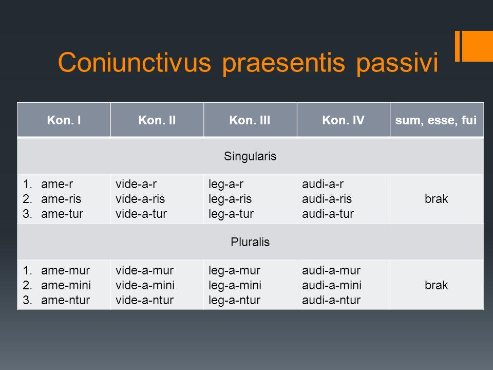 Coniunctivus praesentis passivi