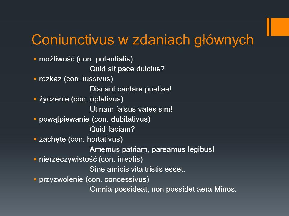 Coniunctivus w zdaniach głównych