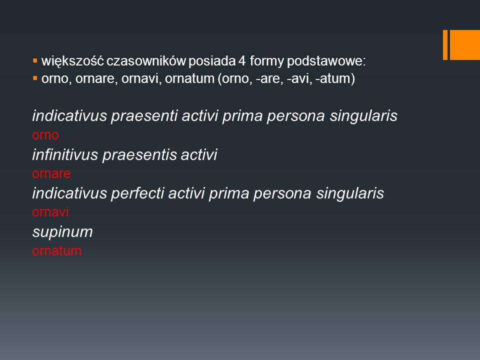 indicativus praesenti activi prima persona singularis