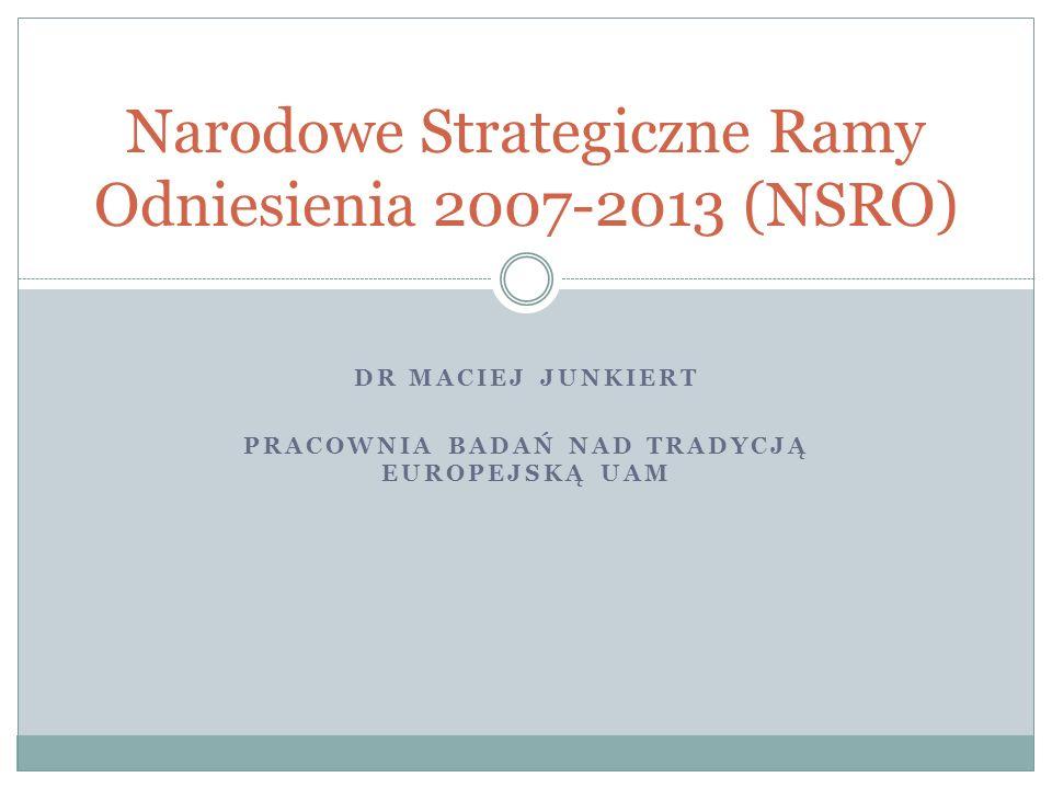 Narodowe Strategiczne Ramy Odniesienia 2007-2013 (NSRO)