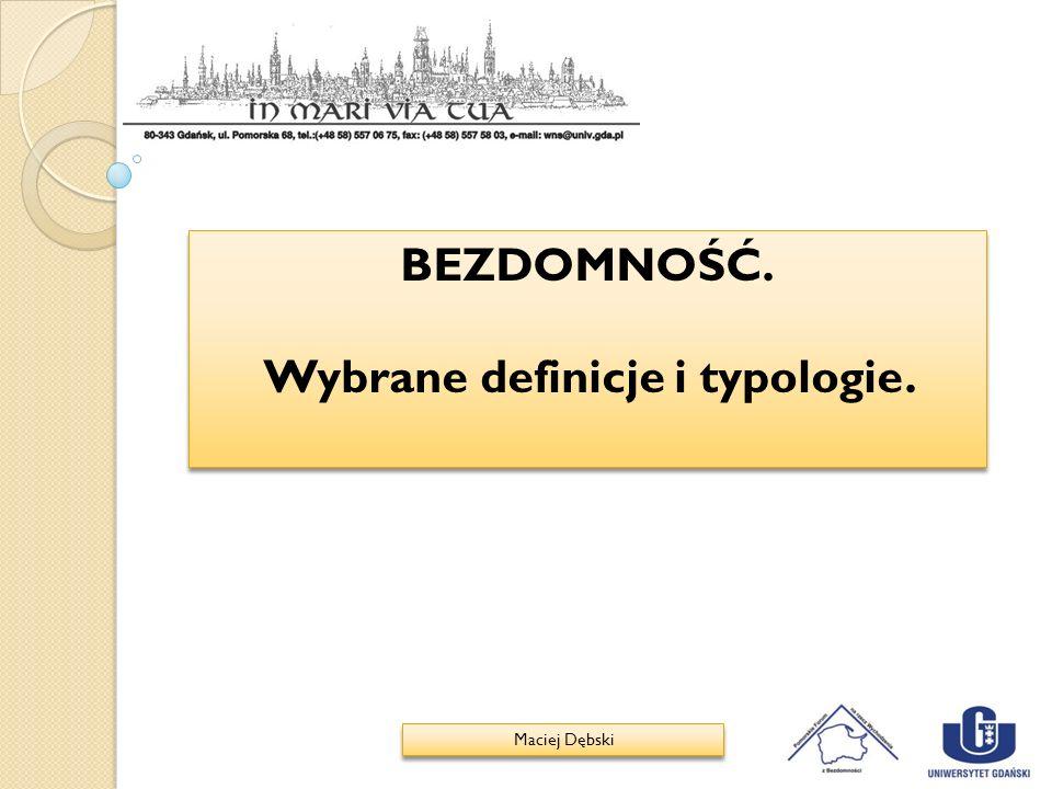 Wybrane definicje i typologie.