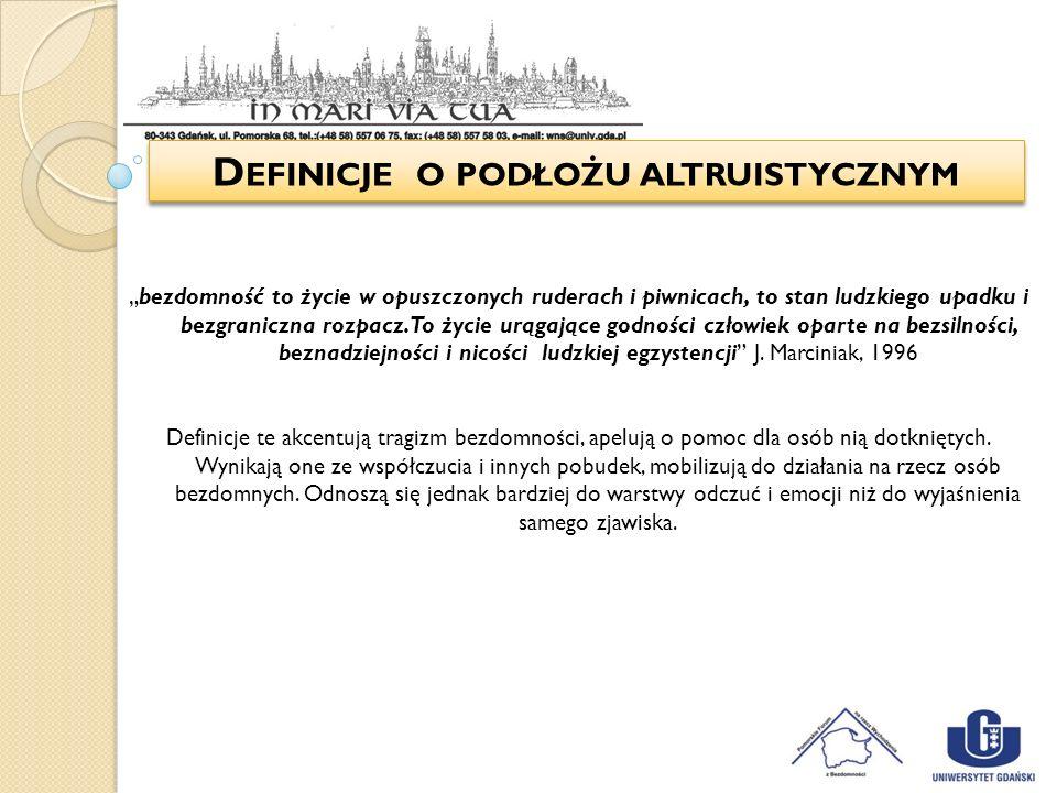 Definicje o podłożu altruistycznym