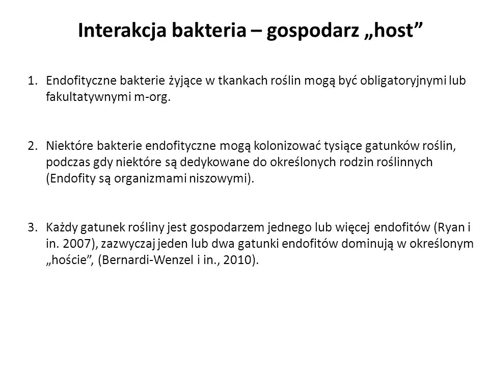 "Interakcja bakteria – gospodarz ""host"