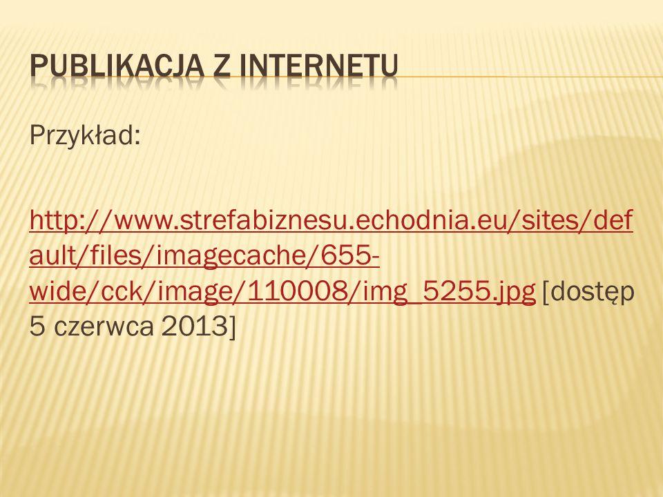 Publikacja z Internetu