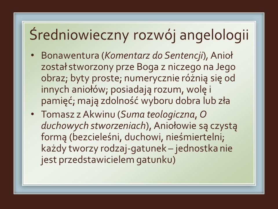Średniowieczny rozwój angelologii