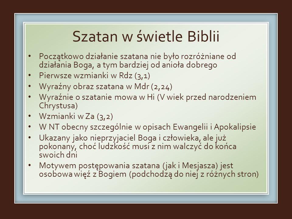 Szatan w świetle Biblii