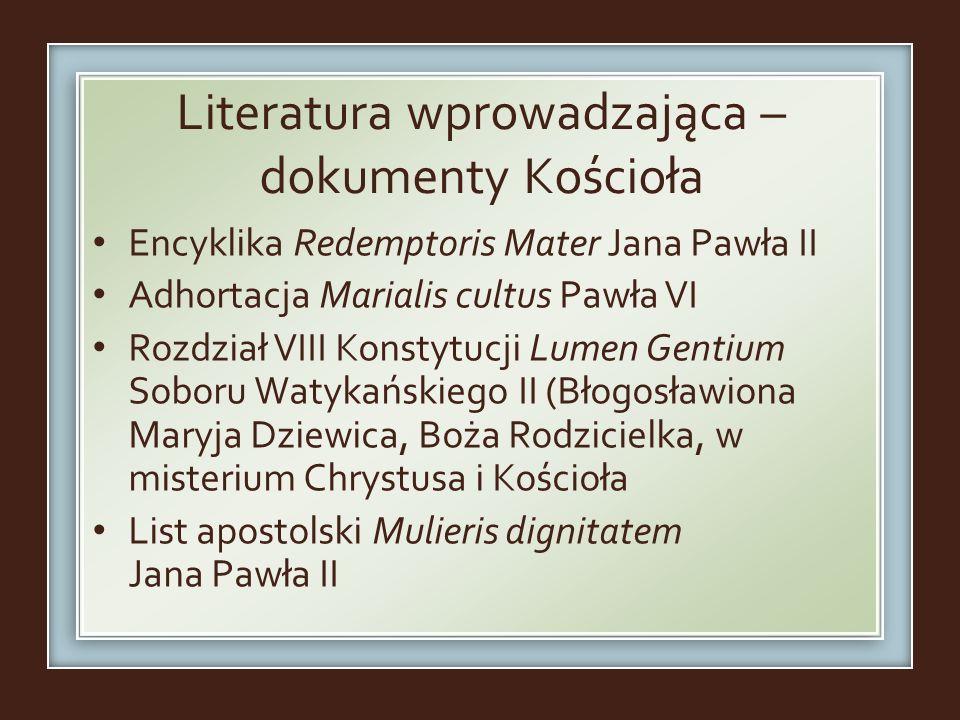 Literatura wprowadzająca – dokumenty Kościoła