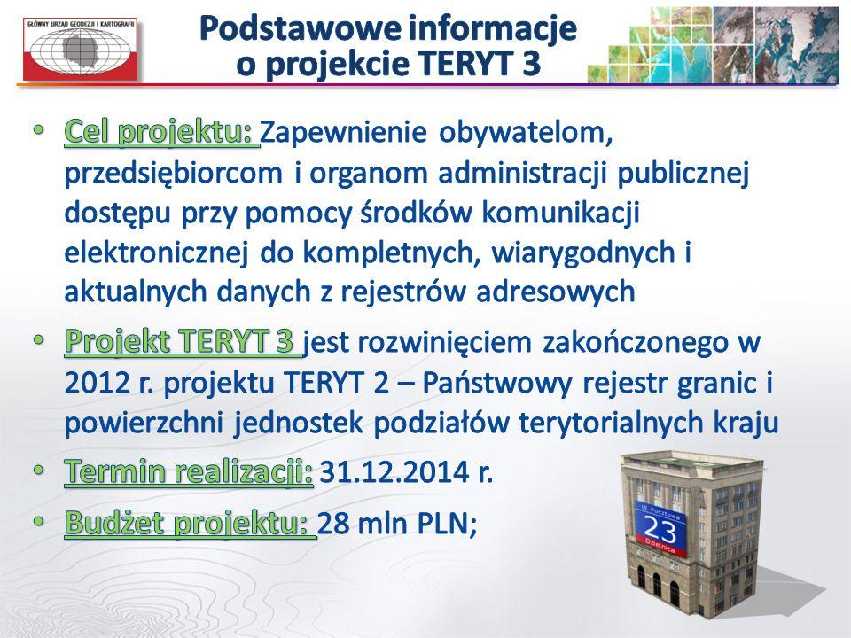 Podstawowe informacje o projekcie TERYT 3