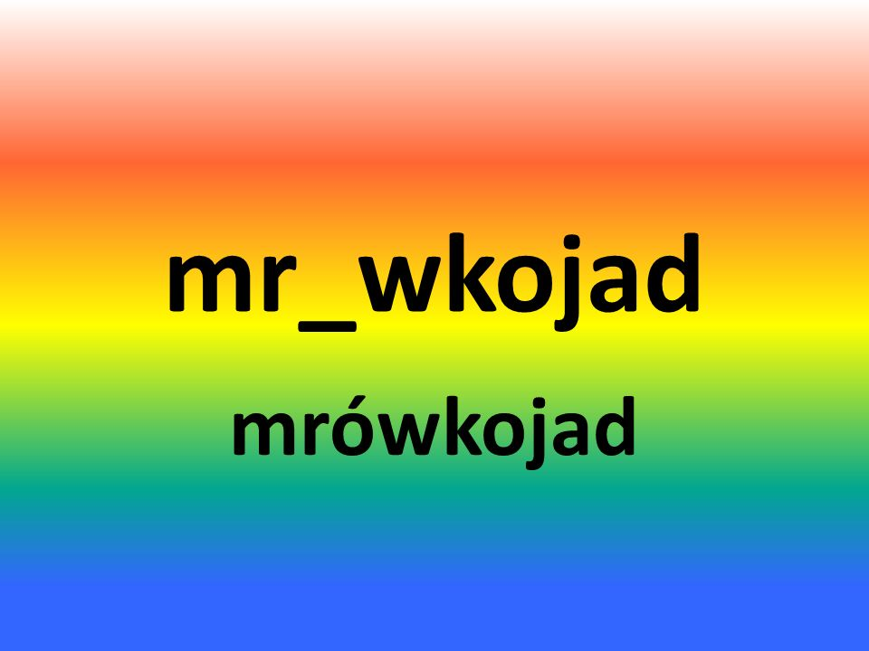 mr_wkojad mrówkojad