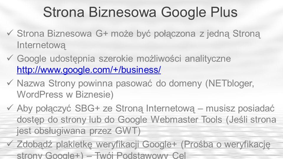 Strona Biznesowa Google Plus